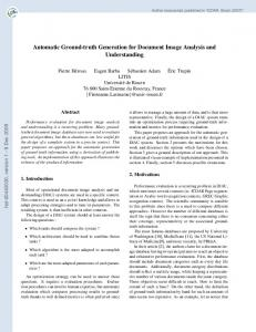 Automatic Ground-truth Generation for Document Image Analysis and