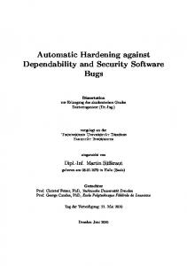 Automatic Hardening against Dependability and ... - TU Dresden