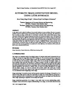 automatic image annotation model using lstm