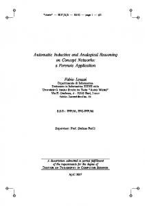 Automatic Inductive and Analogical Reasoning on