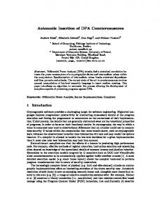 Automatic Insertion of DPA Countermeasures