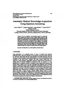 Automatic Medical Knowledge Acquisition Using Question-Answering