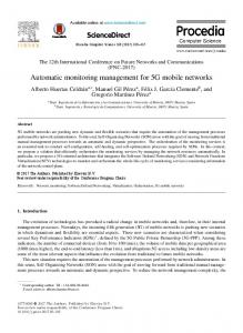 Automatic monitoring management for 5G mobile ... - ScienceDirect