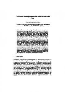 Automatic Ontology Extraction from Unstructured ... - Semantic Scholar