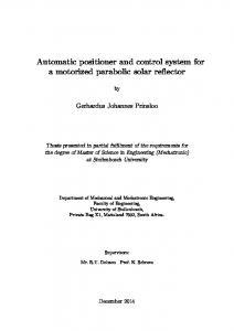 Automatic positioner and control system for a