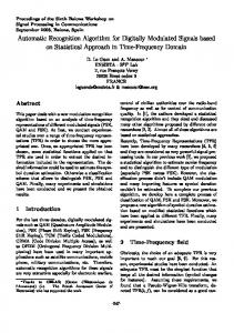 Automatic Recognition Algorithm for Digitally Modulated Signals ...