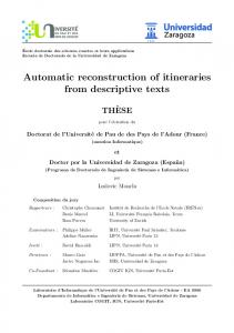 Automatic reconstruction of itineraries from ... - La Recherche IGN