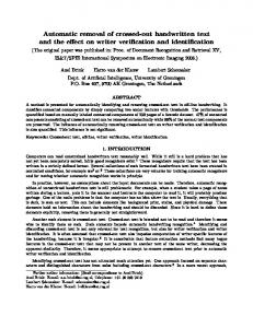 Automatic removal of crossed-out handwritten text and the ... - CiteSeerX