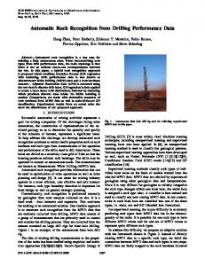 Automatic Rock Recognition from Drilling ... - Semantic Scholar