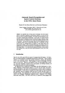 Automatic Speech Recognition and Speech ... - Semantic Scholar