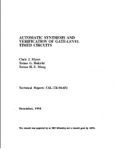 automatic synthesis and verification of gate-level ... - Semantic Scholar