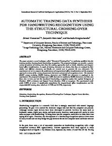 automatic training data synthesis for handwriting ... - Aircc Digital Library