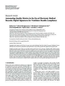 Automating Quality Metrics in the Era of Electronic Medical Records ...