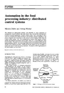 Automation in the food processing industry