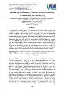 Automobile spare-parts forecasting - International Journal of