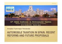 automobile taxation in spain. recent reforms and ...