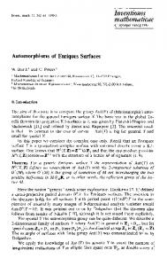 Automorphisms of Enriques surfaces - CiteSeerX