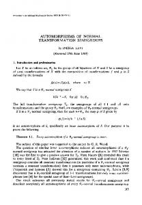 Automorphisms of normal transformation semigroups