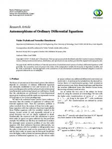 Automorphisms of Ordinary Differential Equations