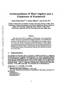 Automorphisms of Weyl Algebra and a Conjecture of Kontsevich