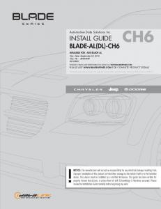 Automotive Data Solutions Inc. INSTALL GUIDE BLADE-AL(DL)-CH6
