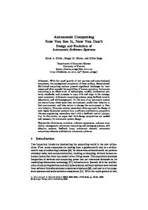 Autonomic Computing Now You See It, Now You ... - Semantic Scholar