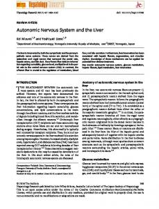 Autonomic Nervous System and the Liver - Wiley Online Library