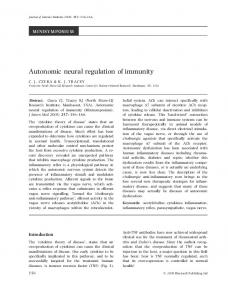 Autonomic neural regulation of immunity - Wiley Online Library