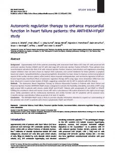 Autonomic regulation therapy to enhance ... - Wiley Online Library