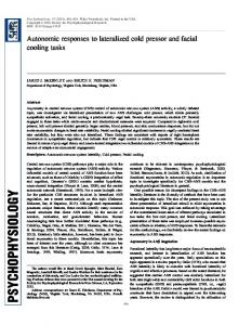Autonomic responses to lateralized cold pressor ... - Wiley Online Library
