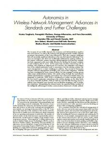 Autonomics in Wireless Network Management - IEEE Xplore