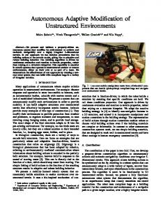 Autonomous Adaptive Modification of ... - Online Proceedings