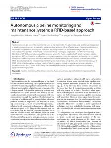 Autonomous Pipeline Monitoring and Maintenance System: A RFID ...