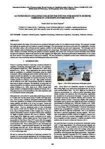 autonomous unmanned helicopter system for