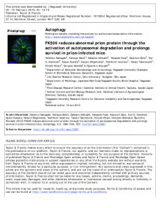 Autophagy FK506 reduces abnormal prion protein