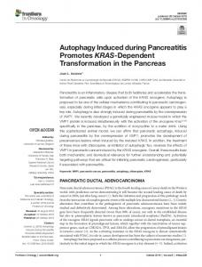 Autophagy Induced during Pancreatitis Promotes ... - Semantic Scholar