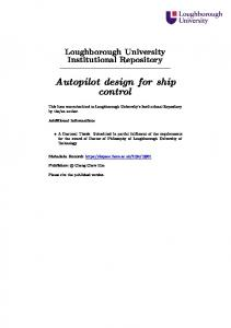 Autopilot design for ship control