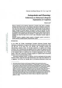 Autopoiesis and Knowing