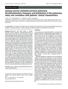 Autopsyproven untreated previous pulmonary ... - Wiley Online Library