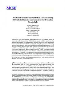 Availability of and Access to Medical Services Among HIV-Infected ...
