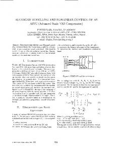 AVERAGED MODELING AND NONLINEAR CONTROL ... - IEEE Xplore