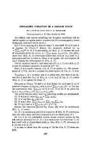 AVERAGING ITERATION IN A BANACH SPACE An ... - Project Euclid
