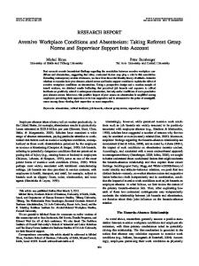 Aversive Workplace Conditions and Absenteeism - Semantic Scholar