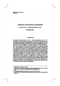 avoidance law in judicial management - SSRN papers