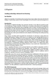 Avoiding technologyenhanced nonlearning - Semantic Scholar