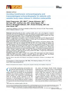 Avoiding transthoracic echocardiography and transesophageal