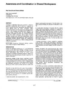 Awareness and Coordination in Shared Workspaces - Semantic Scholar
