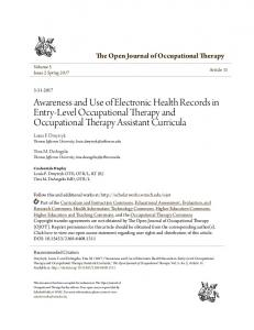 Awareness and Use of Electronic Health Records in Entry-Level ...