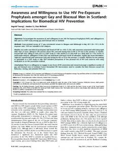 Awareness and Willingness to Use HIV Pre-Exposure ... - Plos