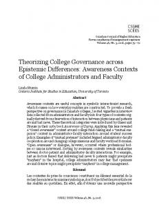 Awareness Contexts of College Administrators and Faculty
